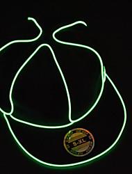 Schwarzlicht bis Hut Männer mit grünen el Draht geführt glühen snapback
