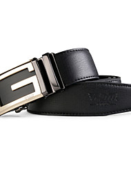 PGM Men's Leather Alloy Automatic Agio Coffee Golf Belt