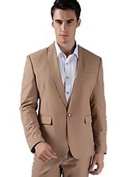 moda entallada una hebilla esmoquin novio de color caqui de solapa mejores trajes de hombre padrinos de boda de los hombres (chaqueta +