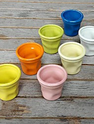 pequeña irregularidad taza de cerámica de color al azar, 6.5x6x6cm
