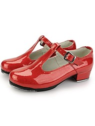 Women's Patent  Leather  Upper Tap  Shoes with Buckie (More Colors)