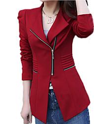 Zipper Bodycon SOLid COLor Coat