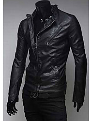 double zip slim en cuir Club de hommes hommes Causual se manteaux