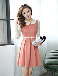 vestido de gola boneca xinyu (rosa)