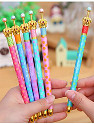 penna sognante colore onda punto corona gel inchiostro nero (colore casuale)