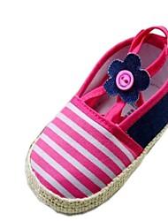 Chaussures bébé Robe Coton Mocassins Rouge