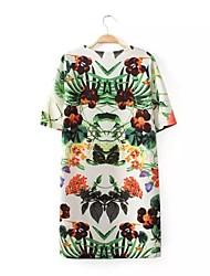 Floral Print Vintage-Inspired Dress