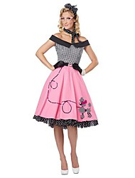 kantoor dame zwart&De roze polyester vrouwen Halloween kostuum
