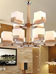 carvalho luminária, twelvelights, carvalho e vidro, 220 ~ 240V (hy90284)