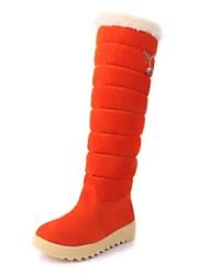 altas botas de los zapatos de nieve botas de plataforma de la rodilla de la mujer con diamantes de imitación más colores disponibles