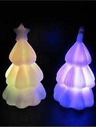 conception d'arbre de noël nuit plastique léger (x1pcs de couleur aléatoire)
