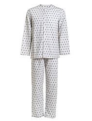 botões de uniformes médicos single-breasted colher sarja pijamas paciente