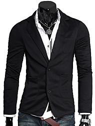 Men's Tailor Collar Sheath Long Sleeve Suit Blazer