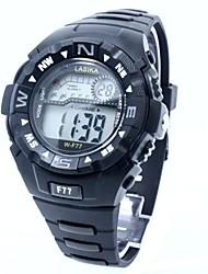 Hombre Reloj Deportivo Reloj digital Digital Silicona Banda Negro Negro
