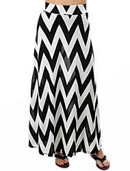 Women's  Irregular Geometric Patterns Long Fishtail Bodycon Skirt