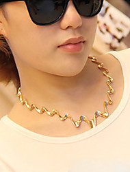 MYJK Fashion High End Wave Shaped Short Necklace