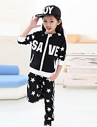 Girl's Fashion And Leisure Star Haroun Pants Sports Clothing Set