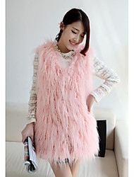 Fashion Sleeveless Collarless Faux Fur Party/Casual Vest (More Colors)