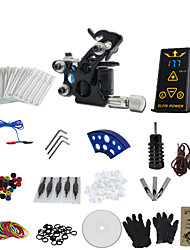 1 Gun Complete No Ink Tattoo Kit with Black Tatoo Machine For Liner and Ep-2 Power Supply