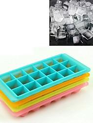 18 Grid Creative Big Diamond Ice Cube (Random Color), Plastic 24x12x2cm