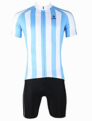 PaladinSport Men's Vertical Stripes B Spring and Summer Style Lycra and Polyester Short Sleeved Cycling Suits