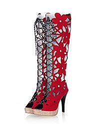 prodotti caldi di Lobo donne tagliate legami lungo sandalo