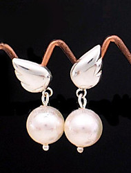 Super Cute Angel Wings of Pearl Earrings