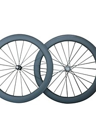 KAYOTE 700C 60mm Width 20.5mm Carbon Fiber Clincher  Wheels Bicycle Wheelset