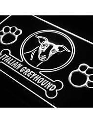 j966 Italian Greyhound Dog Pet Shop Neon Light Sign