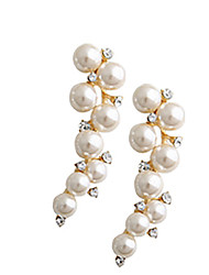 Viva Women's Pearl Strands Diamond Earrings