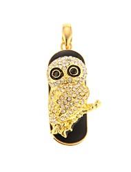 zp 64gb niedlicher goldener Eulenmuster bling Diamant-Metal-Stil USB-Stick