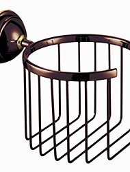 Modern Slat Toilet / Tissue Paper Holder, Brass Oil Rubbed Bronze Finish Bathroom Accessory