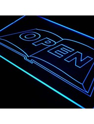 i726 Book Bookstore Bookshop Display Neon Light Sign