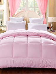 Shuian® Comforter Quilt Keep Warm Thickening Sanding Printed Quilts Pink Color