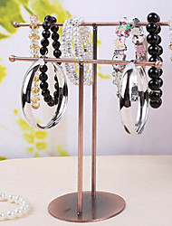 Classic Contracted Two Poles Showing Stand Bronze Alloy Jewelry Displays(1 Pc)