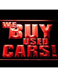 i1004 We Buy Used Cars Display Shop Advertising Lure Neon Light Sign
