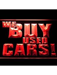 i1004 que comprar carros usados sinal da loja de exibição de publicidade atração luz neon