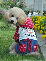 mode animal mignon quatre pieds hoodies pour animaux chiens (grandeurs assorties)