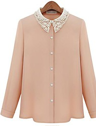 Women's Fashion Beads Chiffon Blouse