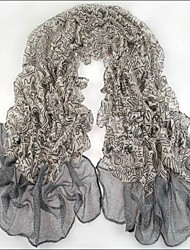 Women Grey Voile Scarves Bali Yarn Scarf Shawls