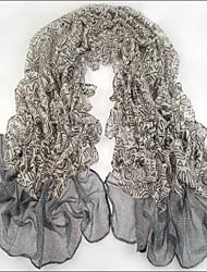 femmes écharpes en voile gris fil bali écharpe châles