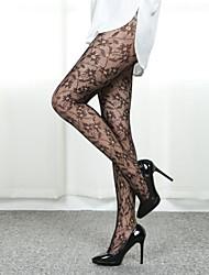 profilo sexy moda modello fiore collant donne