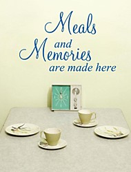 JiuBai™   Meal And Memories Quote Wall Sticker Wall Decal