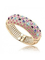 De mengguang vrouwen mode multi-color afdrukken diamonaded armband