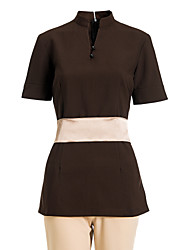 SPA Uniforms Women's Short Sleeve Mandarin Collar Beauty Tunic