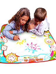70*70*1.5cm Kids Magic Water Drawing Doodle Mat Board Novelty Toys(Paintbrush for Free)