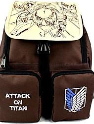 ataque a titan o corpo de pesquisa escuro cosplay marrom mochila / saco