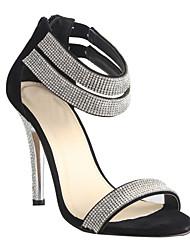 zapatos de las mujeres del dedo del pie abierto de las sandalias de tacón de aguja de los zapatos más colores disponibles