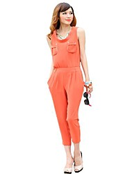 trois quaters des femmes jianzi de Combinaisons de couleur orange vif