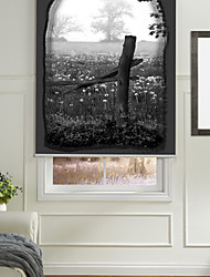 Monochrome Style Flowers & Plants Roller Shade